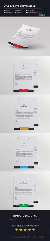 Corporate #Letterhead - #Stationery #Print #Templates Download here: https://graphicriver.net/item/corporate-letterhead/13865600?ref=alena994