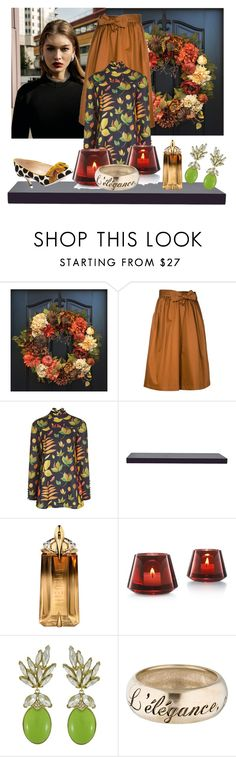 """""""Thanksgiving Hostess with...."""" by kjlnelson ❤ liked on Polyvore featuring Tome, Arthur Arbesser, WALL, Thierry Mugler, Baccarat, Ciner, Chanel and Manolo Blahnik"""