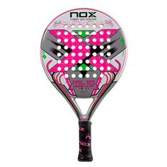 Pala mujer modelo NOX ML10 WOMAN CUP 3.0 2016 de color blaca, rosa y verde.