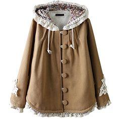 Partiss Women's Sweet Lolita Lace Hoodie Cloak, One Size, Khaki Partiss http://www.amazon.co.uk/dp/B01BWLKQAO/ref=cm_sw_r_pi_dp_dWM3wb0M2EVTR