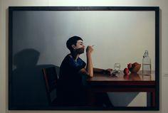 Artista: Ado-Nay ( Manuel Rivero ) Título: La mujer sin miedo. Óleo sobre lienzo. 200x300 cm. 2016