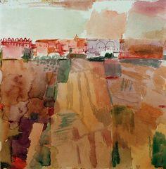 1914 Paul Klee 'Kairouan'. Artista suizo y profesor de la Bauhaus. En abril de 1914, realiza un viaje decisivo de dos semanas a Tunez del que contaría '.. El color me posee. No tengo que buscarlo. Me tiene para siempre, lo sé (...) yo y el color somos uno. Soy pintor ...'