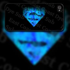 Superman Blue Flame Design on iPhone 4 / 4s / 5 / 5s / 5c / 6 Rubber Silicone Case by EastCoastDyeSub on Etsy https://www.etsy.com/listing/152556604/superman-blue-flame-design-on-iphone-4