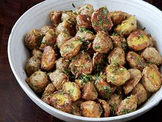 Parmesan-Roasted Potatoes Recipe | http://www.epicurious.com/recipes/food/views/Parmesan-Roasted-Potatoes-51214520