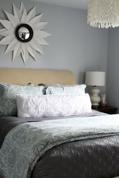 Like the shade of grey -  Behr's burnished metal    This is the color that will go throughout the house.  I LOVE GREY!!