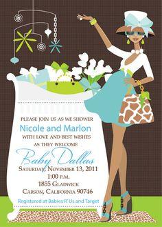 Chic Baby shower invitation boy by dwheeler013 on Etsy, $1.65