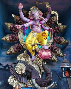 Ganpati Bappa Photos Catch me for more like this ❤️❤️😍😘 Insta - Or Shri Ganesh Images, Ganesha Pictures, Lord Krishna Images, Krishna Hindu, Shri Hanuman, Durga Ji, Shree Ganesh, Ganpati Bappa Photo, Ganesh Aarti