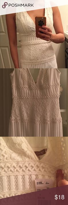 "Forever 21 Ivory Lace Dress Brand New with tag  - Ivory Lace Dress  - Size: S - Approx: 12.5"" across waist 