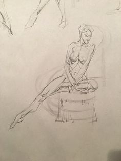 Quick sketch action! Jeff Watts, 5 min pose.