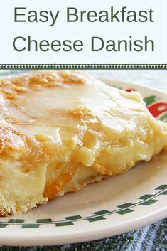 Easy Breakfast Cheese Danish Recipe - Recipes & Me Breakfast Cheese Danish, Breakfast Pastries, Breakfast Items, Breakfast Dishes, Cream Cheese Danish, Cream Cheese Pastry, Breakfast Recipes, Cream Cheeses, Breakfast Dessert
