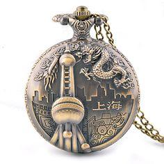 Barato 45 X 45 MM Shanghai Oriental Pearl Flip retro relógio de charme, Compro Qualidade Relógios de bolso diretamente de fornecedores da China:                                                                                                          Leia antes da o