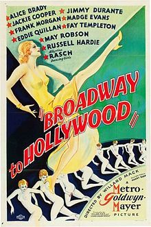 Broadway to Hollywood. Alice Brady, Frank Morgan, Jackie Cooper, Madge Evans, Mickey Rooney. Directed by Willard Mack. MGM. 1933