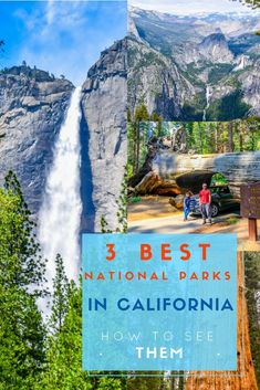 It is widely accepted that Yosemite isNumber Oneof all the Californian National Parks. And the best thing is that Sequoia and Kings Canyon National Parks are just south east of Yosemite, such that you can see all 3 parks in 3 days. But if you want to make it a holiday of a lifetime, we suggest you take 7 days to take it all in. Here's how you do it... via @NiceRightNow New Travel, Ultimate Travel, Travel Usa, Travel With Kids, Sequoia National Park, Rocky Mountain National Park, Usa Places To Visit, California National Parks, Adventure Activities