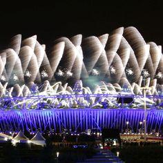 Impressive firework display.