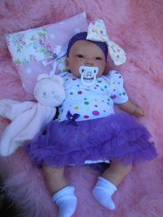 PROFESSIONAL ARTISTS SUNBEAMBABIES REBORN BABY VERY REALISTIC IN LILAC TUTU #REBORN