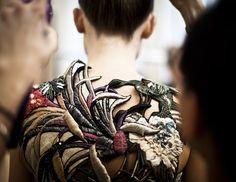Maison Martin Margiela fall 2013 couture backstage