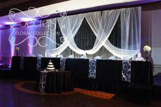 black and white wedding decor | Black and White Damask Wedding Reception Decoration » Secrets ...