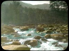 """Cumberland River Rapids""- Elmer L. Foote Lantern Slide Collection, ca. 1900-1915 (Lexington Public Library)"