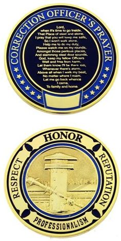 CORRECTION OFFICER PRAYER CHALLENGE COIN in Collectibles | eBay
