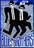 Blues Brothers Limited edition art poster with the film subject Original Polish poster film, USA director: John Landis actors: John Belushi, Dan Aykroyd Polish Movie Posters, Polish Films, Film Posters, Music Posters, Norman Rockwell, Blues Brothers 1980, Brothers 2009, Brothers Movie, Alternative Movie Posters