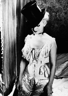 Actress Frances Day wearing 1900'slingerie, photo c.1935