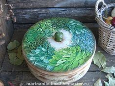 Купить «Herbes de provence» - прованс, травы, Декор, Декупаж, короб для трав, салатовый, дерево