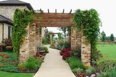 Stone Pergola Walkway Argyle Texas by One Specialty Outdoor Living, via Flickr