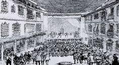 En Madrid dos cofradías, la de la Pasión y la de la Soledad, gozaron este privilegio por separado para asociarse después y no hacerese competencia. Debió haber hacia principios del siglo XVII hasta cinco corrales distintos que es muy probable que dieron lugar a la aparición de un auténtico barrio dedicado la representación de comedias cuyo centro principal fue la calle del Príncipe donde existieron : LA PACHECA, BURGUILLOS y el célebre CORRAL DEL PRÍNCIPE (inaugurado en 1582).