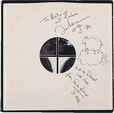 John Lennon and Yoko Ono, Let It Be Album, Autographed by John Lennon and Yoko Ono