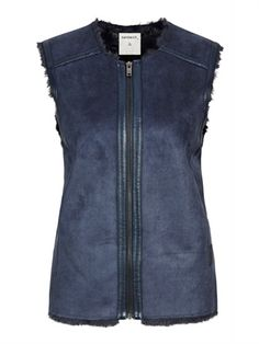 Sandwich Blue Sheepskin Gilet