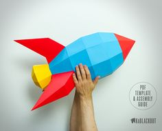 XL Rocket Papercraft, DIY Paper Rocketship - Printable PDF Template Download Now you can make our ever popular original Retro Rocket in extra large size!!! Build your own Extra Large (XL) Retro Rocket, a beautifully designed 3D low poly papercraft rocketship. This easy to make classic
