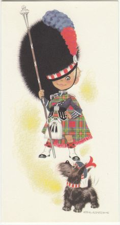 Vintage Scottish Terrier Happy Birthday Bagpipes Greeting Card By Royle In EBay Vintage