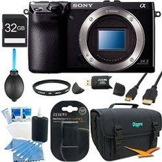 Sony NEX-7 NEX7 NEX7KB NEX7K 24.3 MP Compact Interchangeable Lens Camera Body Only BUNDLE with Sony 32GB SD Card, UV filter, Spare Battery, SD Card Reader, Deluxe Case + More! by Sony. $998.00. So much more than a pocket camera, the 24.3MP NEX-7 exceeds expectations. Get performance that would give most DSLRs camera envy, including interchangeable lenses, a 2359K dot Tru-Finder OLED electronic viewfinder, up to 10fps shooting, and outstanding Tri-Navi 3-dial ma...