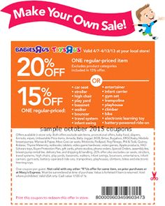 Babies R Us Coupons Promo Coupons will expired on MAY 2020 ! About Babies R Us From apparel to specialty furniture, toys, car seats . Store Coupons, Grocery Coupons, Free Printable Coupons, Free Printables, Coupons For Boyfriend, Extreme Couponing, Babies R Us, Coupon Organization, Toys R Us