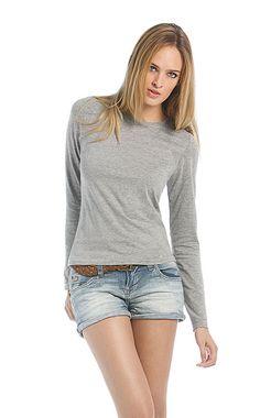 Dames t-shirt met ronde hals en lange mouwen    - 100% ringgesponnen katoen  - grammage: 145 g/m2   - single jersey  - ook verkrijgbaar in een heren model  - ook verkrijgbaar in maat 2XL (in beperkt aantal kleuren)  - de kleur Sport Grey is gemaakt van 85% katoen en 15% viscose  - medium fit
