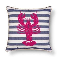 Threshold� Embroidered Lobster Decorative Pillow - Pink