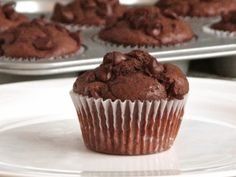 Delectably Mine: Double Chocolate Buttermilk Muffins