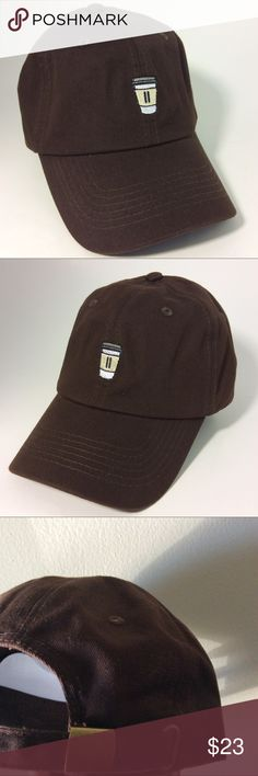 Coffee Cup dad Hat NWT This Brown Strapback Dad Hat is adjustable with tuck  pocket NEW fb3ead4eb419