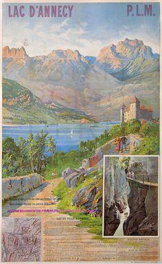 Chemins de fer de Paris a Lyons et a la Mediterranee ~ Lac D'Annecy ~ France