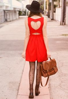 I still can't get over the cuteness of the back of this red dress!