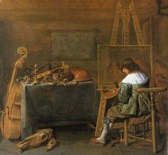 Le peintre au travail, par Jan Miense Molenaer