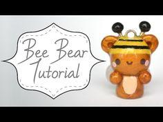Kawaii Bee Bear polymer clay charm tutorial