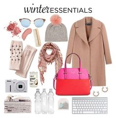 """""""Rosegold"""" by projectsrq ❤ liked on Polyvore featuring Rochas, Vince Camuto, Banana Republic, Nikon, Linda Farrow, NYX, The Body Shop, Kate Spade, ootd and rose"""