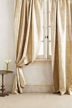 Gilded Waves Curtain - anthropologie.com