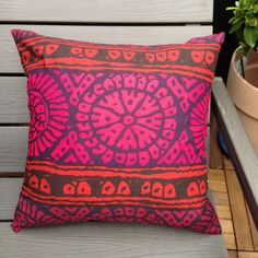 Marimekko Dombra fabric pillow case / cushion cover   100% cotton, print designed by Maija Isola You can see both sides in the pictures  high quality