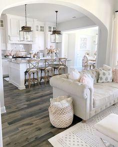 Dream Home Design, Home Interior Design, Interior Plants, Home Living Room, Living Room Decor, Dining Room, Home Decor Kitchen, Room Kitchen, Kitchen Design