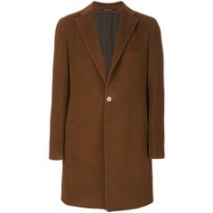 Tagliatore single-breasted coat (47.560 RUB) ❤ liked on Polyvore featuring men's fashion, men's clothing, men's outerwear, men's coats, brown, mens brown coat and mens single breasted pea coat
