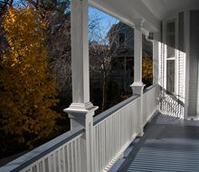 Front Steps, Railings and Newel Posts Front Porch Stairs, Porch Steps, Front Steps, Porch Swing, Porch Columns, Porch Railing Designs, Front Porch Design, Deck Design, Railing Ideas