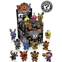 Case of 12 Funko Mystery Minis Fnaf Five Nights at Freddy's Blind Box Figures Five Nights At Freddy's, Vinyl Figures, Action Figures, Pop Figures, Toy Bonnie, Freddy Toys, Pop Disney, Night Jobs, Night Time