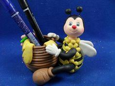Cute polymer clay pen holder   Good for teacher gift!!